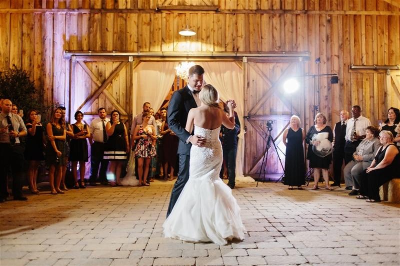 Image of newly wed couple dancing, courtesy of RENT MY WEDDING + Marissa Kay Photography