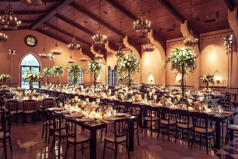 Image of wedding reception room, courtesy of B. Worley Productions + Sean Twomey with (2)me Studios