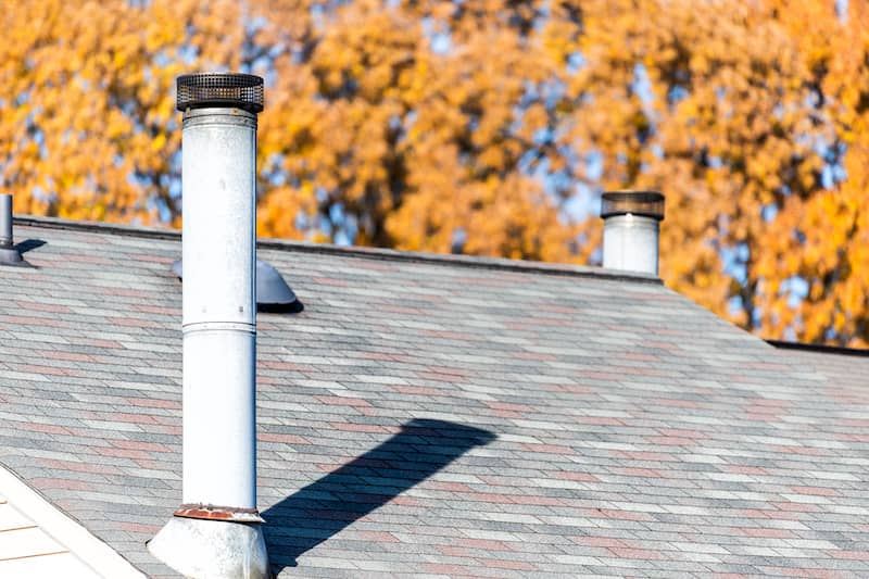 Image of chimney on home.