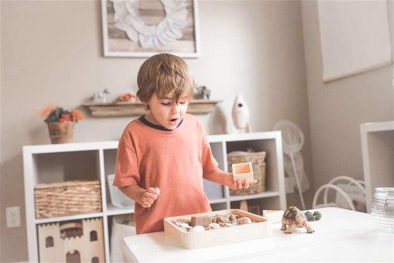 Image of kid exploring in playroom.
