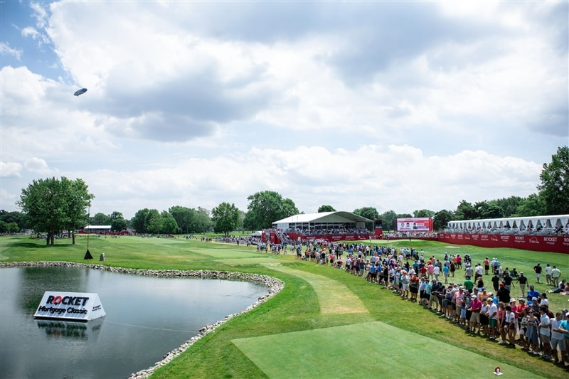 Image of fans watching at Rocket Mortgage Classic.