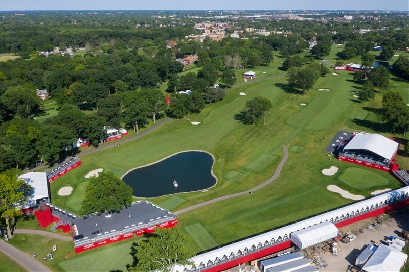 Bird's eye view image of Rocket Mortgage Classic golf course