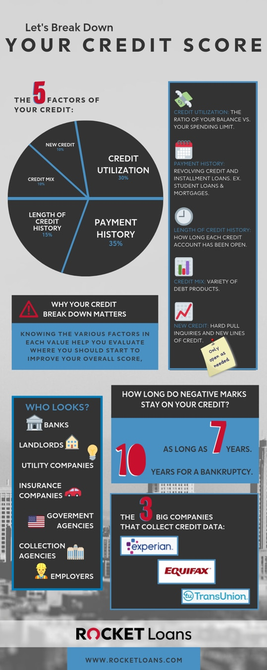 Infographic sharing credit score components