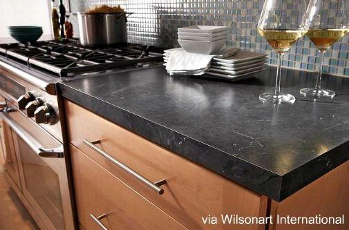 dark gray laminate countertop