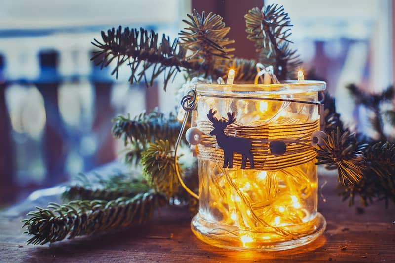 jar filled with lights