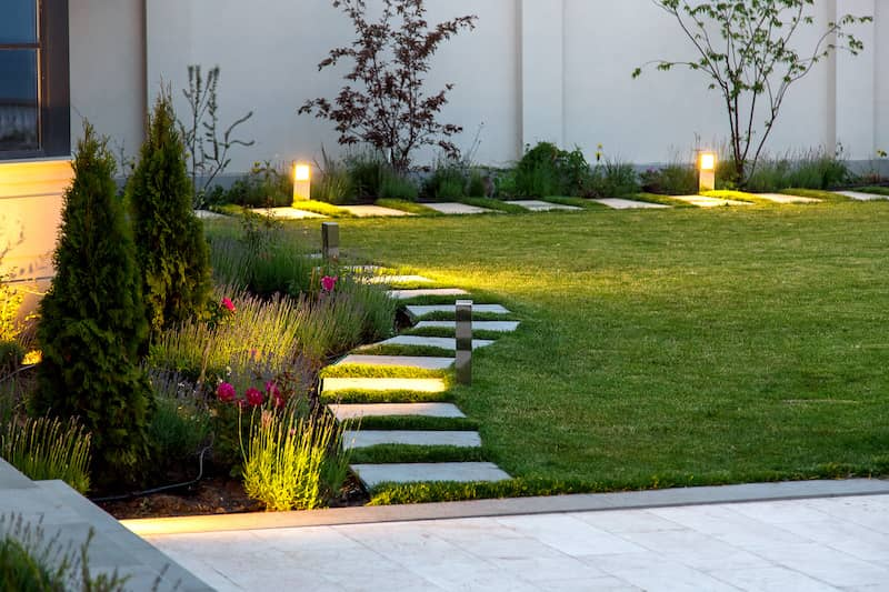 outdoor stone path walkway