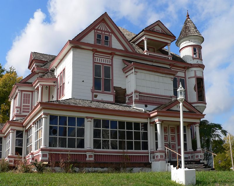 Abandoned Victorian home.