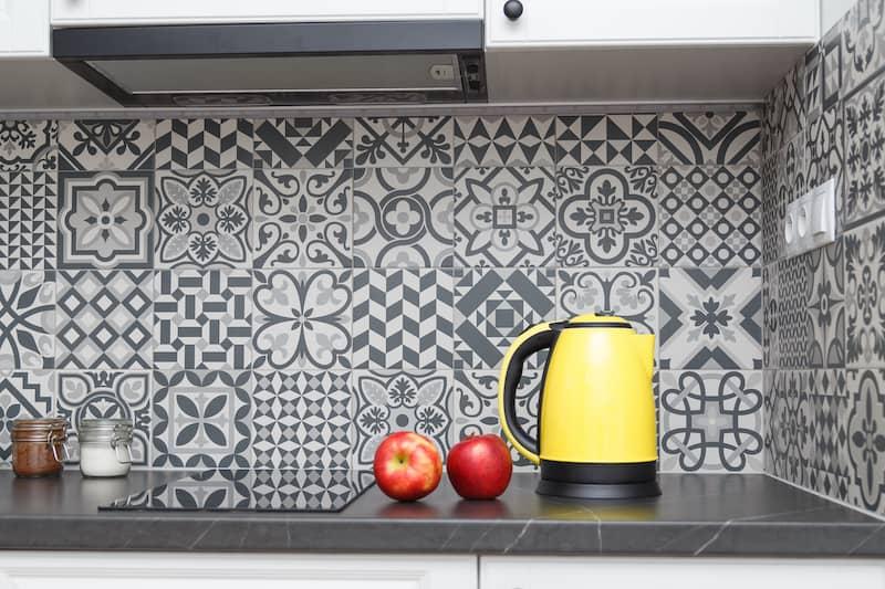 Patterns And Textures on kitchen backsplash