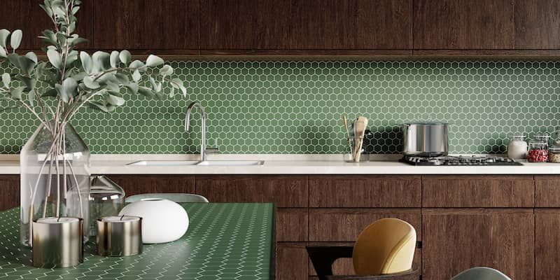 Custom Mosaic Tiles Backsplash