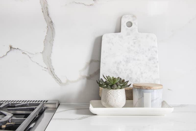 Marble Slab Backsplash