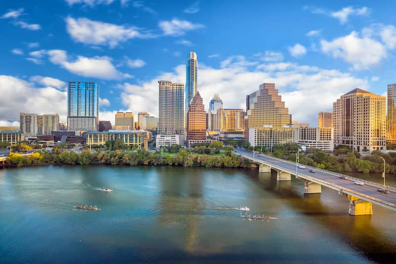 Downtown Skyline Of Austin Texas