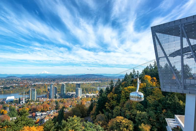 Portland view and Aerial Tram