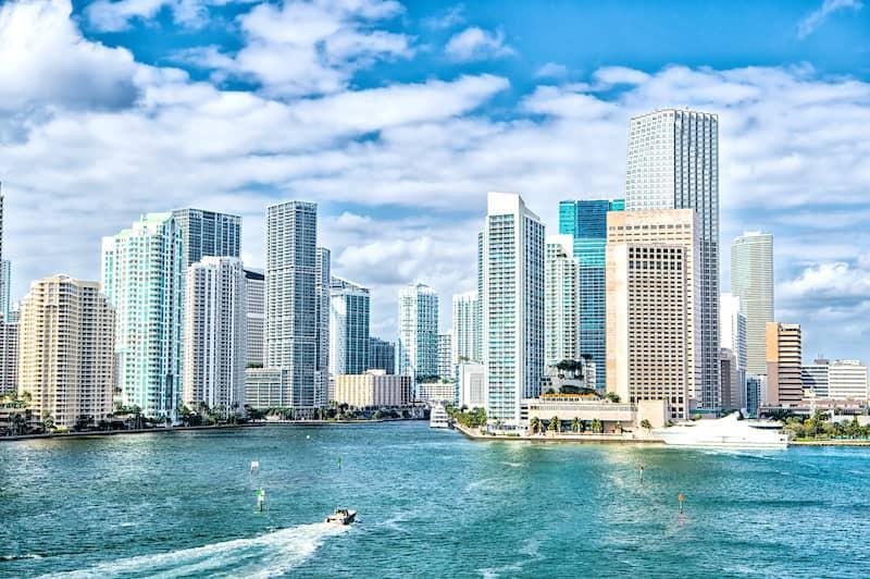 Miami, Florida skyline.