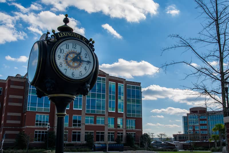 clock in Lexington, South Carolina