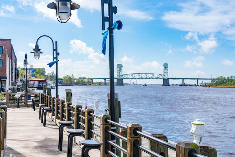 riverside walk in Wilmington, North Carolina