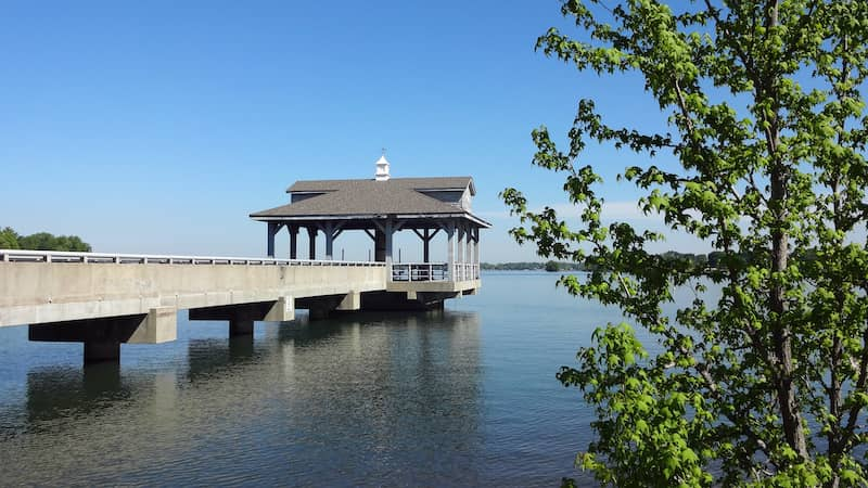 pier over lake in Huntersville, North Carolina