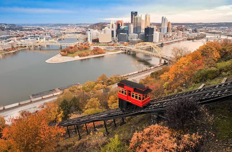 Pittsburgh gondola and skyline view