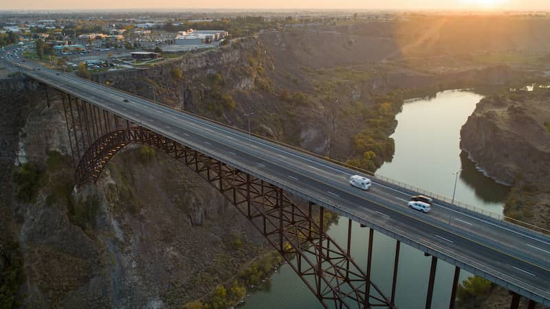 Truss Bridge Leading Into Twin Falls Idaho