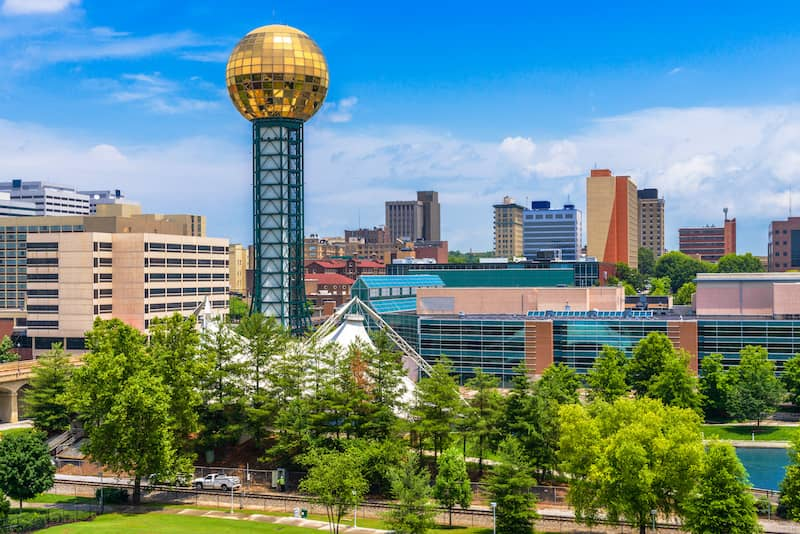 Knoxville Tennessee Downtown Skyline