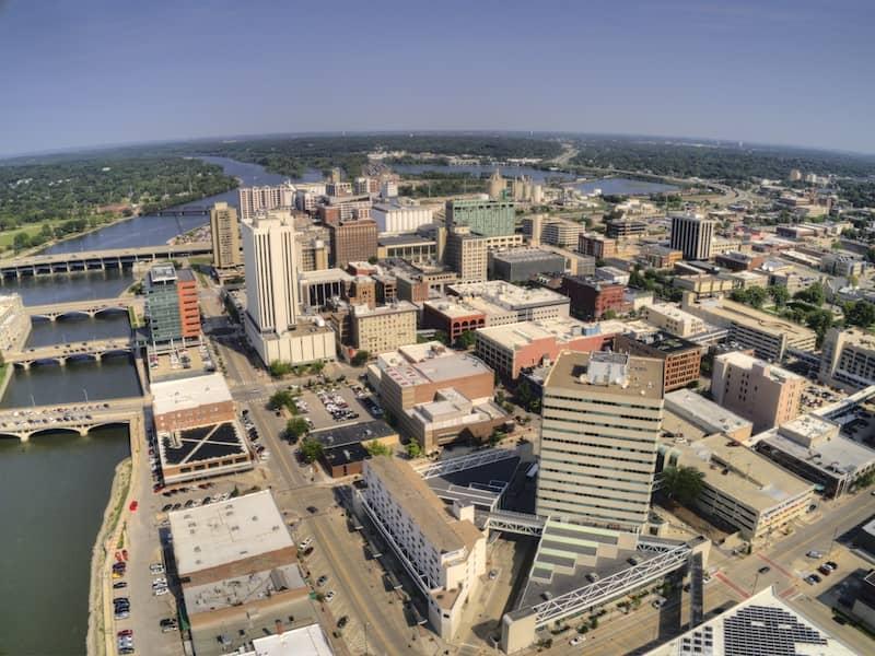 Aerial View Of Cedar Rapids