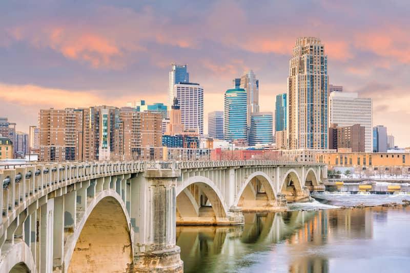 bridge in Minneapolis, Minnesota