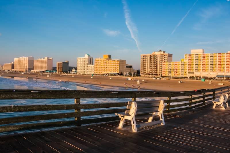 Virginia Beach Boardwalk As Seen From The Ocean Front Fishing Pier