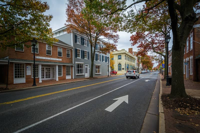 Washington Street in Downtown Easton Maryland