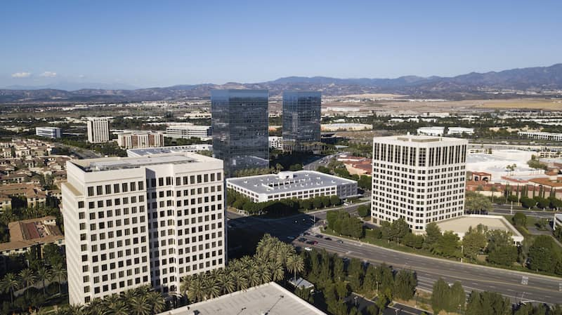 Skyline of Irvine, CA.