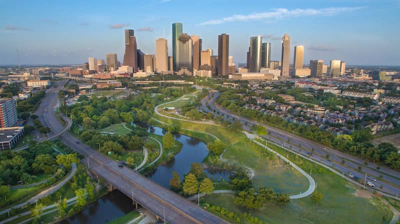 Houston Skyline During Late Afternoon