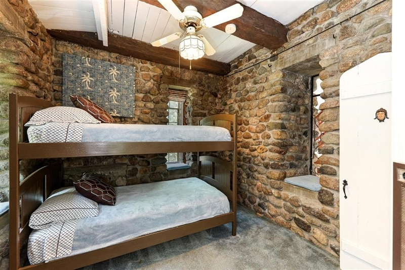 bunk beds in castle home