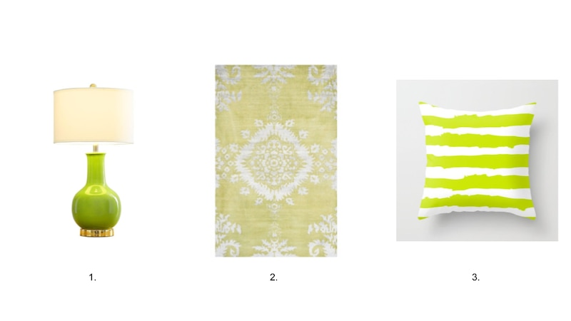 Chartreuse Accent Pieces
