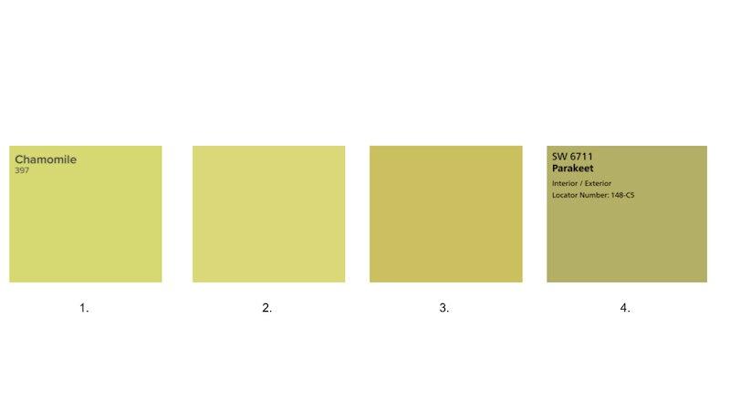 Chartreuse Paint Colors