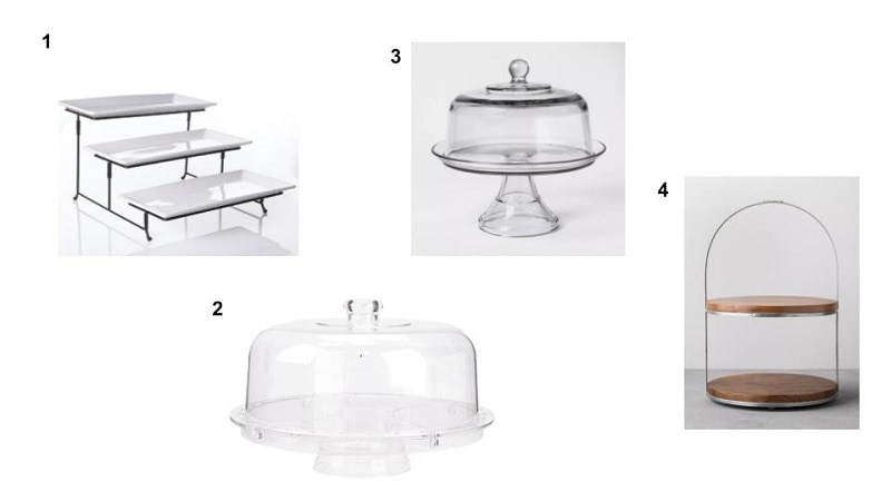 clear cake stands