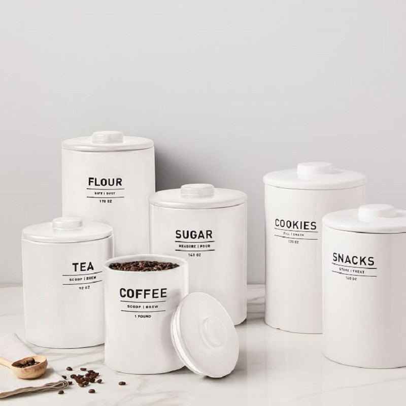coffee bar canister set
