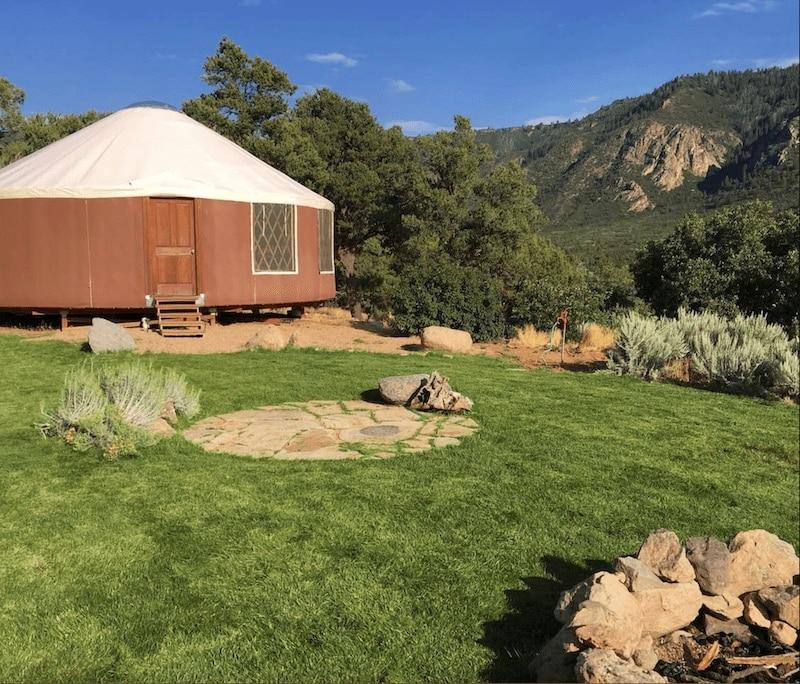 Yurt in Unaweep Canyon, Colorado.