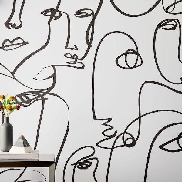 Drop It MODERN Femme Wallpaper from West Elm.