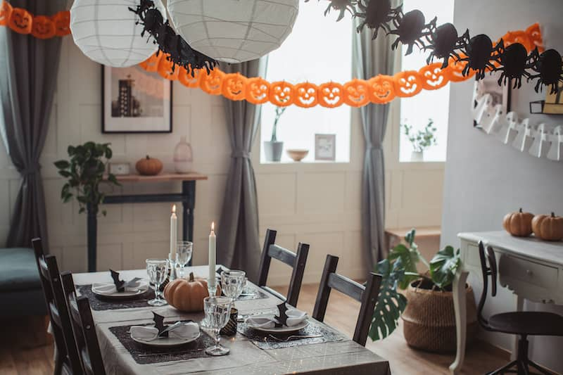kid-friendly Halloween decorations