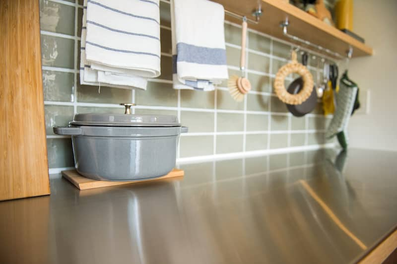 rods under cabinets for hang drying dishes