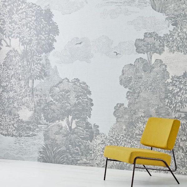 Landscape wallpaper from West Elm.