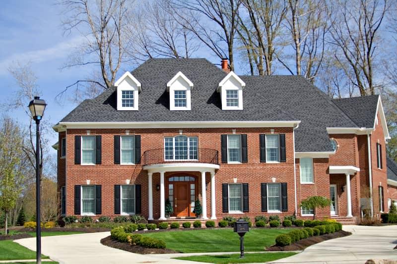 Red Brick Mansion Home