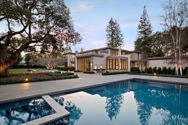 Large pool at Bay Area mansion.