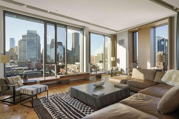 Midcentury modern Boston penthouse.