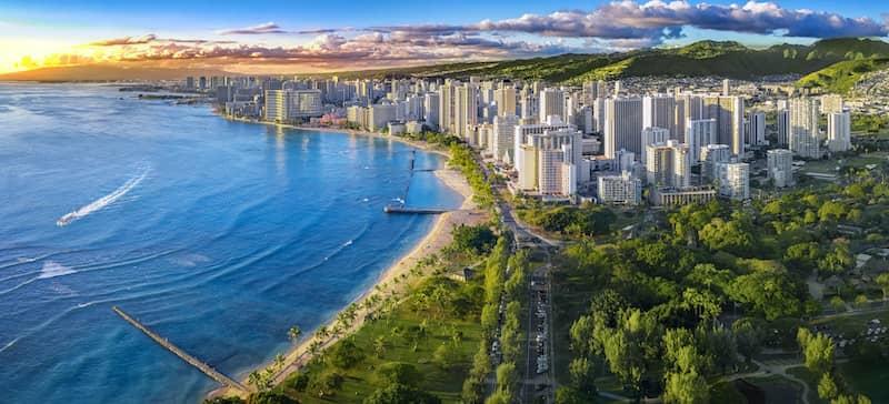 coastline in Honolulu