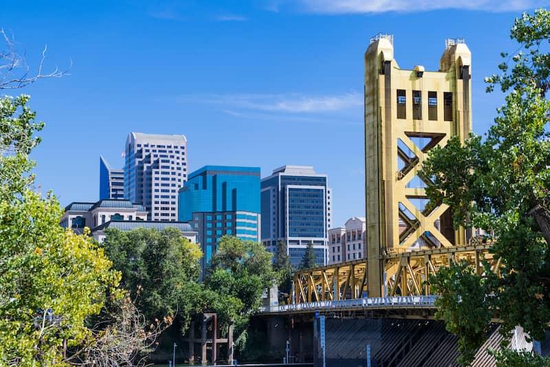 Downtown photo of Sacramento, CA.
