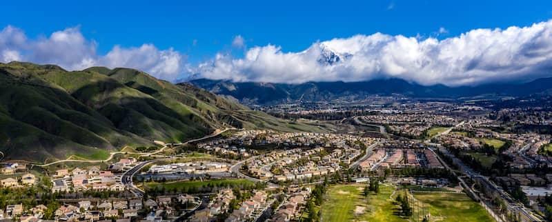 The San Bernardino Valley on a sunny day