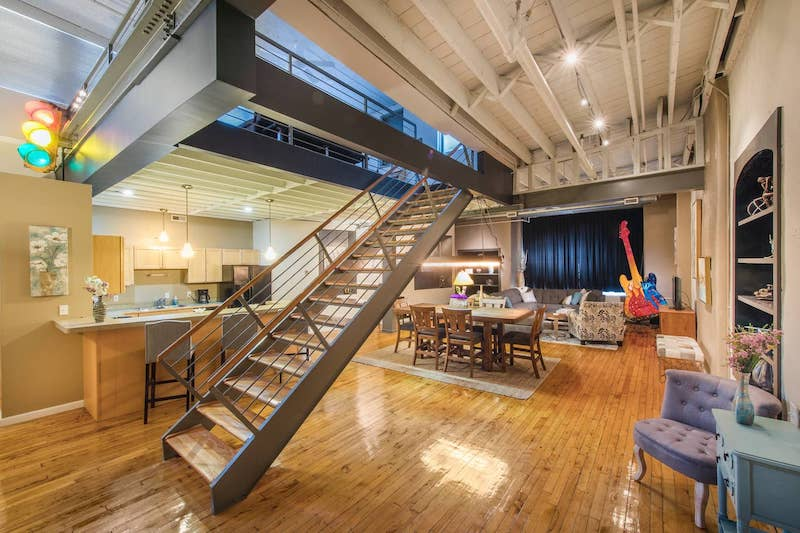 Loft in downtown Cleveland, Ohio.