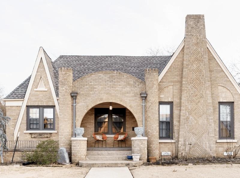 Tudor-style home in Oklahoma.