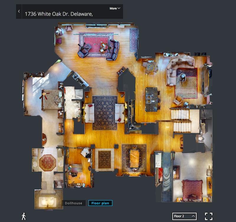 3D virtual tour floor plan – Credit Hommati