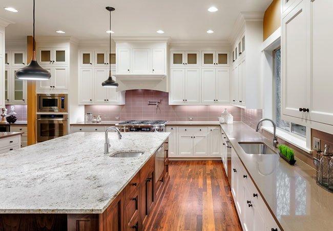 quartz countertop in modern kitchen