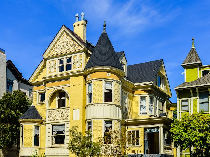 Queen Anne-style Victorian home.